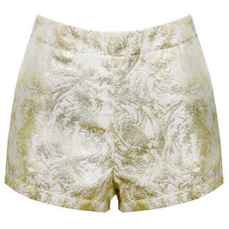 View Item Cream and Gold Baroque High Waisted Short